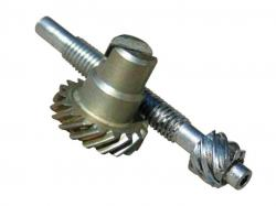Helical gear shaft design