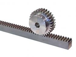Helical rack and pinion