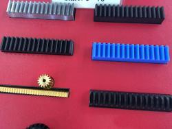 Brass rack and pinion