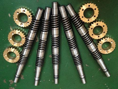 Small worm gears
